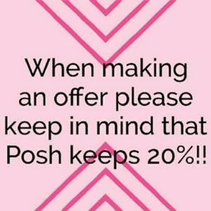 Other - Poshmark takes 20% of each item I sell for service